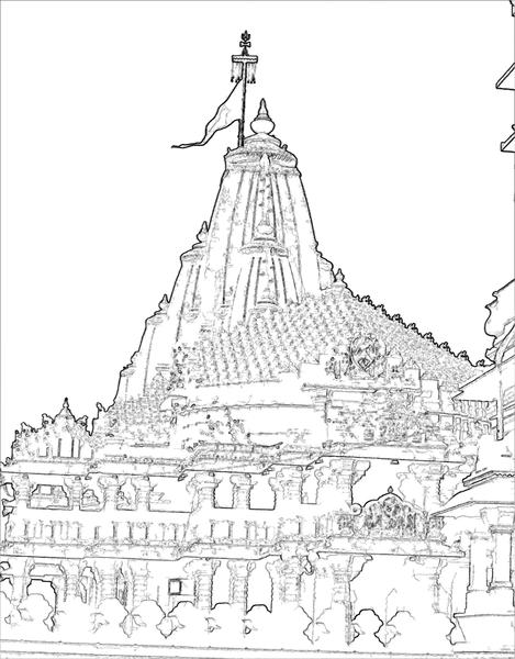 469px-Somanatha_view-II_line_drawing